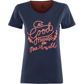 Triple2 Laag Handwrite T-Shirt Women Peacoat